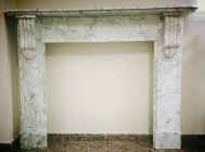 Carrara marble fireplaces