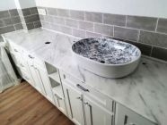 Marble countertops for bathrooms