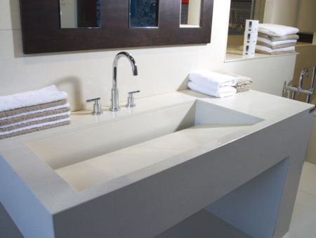 Techlam countertops for bathroom